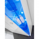 Edgar Display Cabinet in White High Gloss and LED Lights