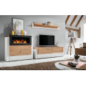 King Wall Unit with Fireplace