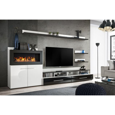 Carmino Wall Set 290 cm with Fireplace