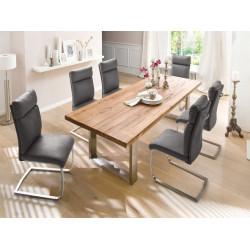 Castelio Solid Oak Wooden Dining Table 180 cm