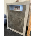 Fiorano 110cm highboard in beton and oxide finish