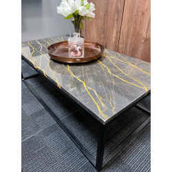 NOi Italy - rectangular natural marble coffee table. Ex Display