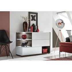 Sing III White Sideboard 3 doors with LED Lights