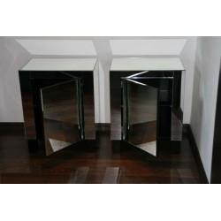Mirror Bedside Table No.45-s
