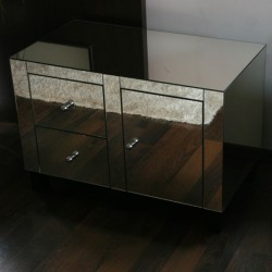 Mirror Bedside table with drawers No.80