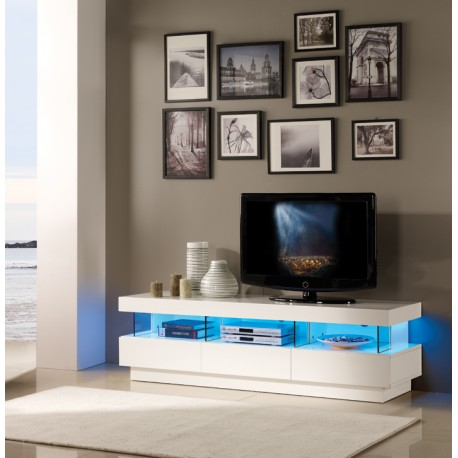 Led Tv Unit : Lisy - high gloss TV unit with LED lights - TV stands - Sena Home ...