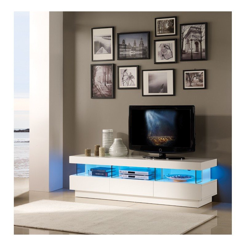 ... high gloss TV unit with LED lights - TV stands - Sena Home Furniture