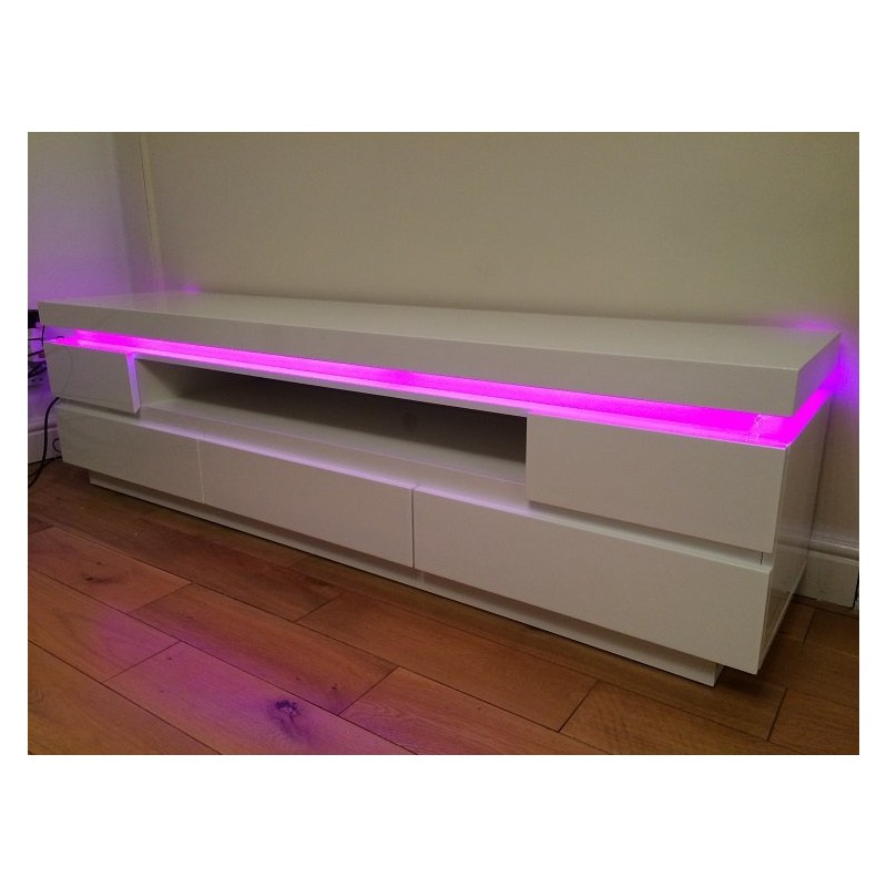 Otis III Gloss Tv Unit With LED Lights TV Stands