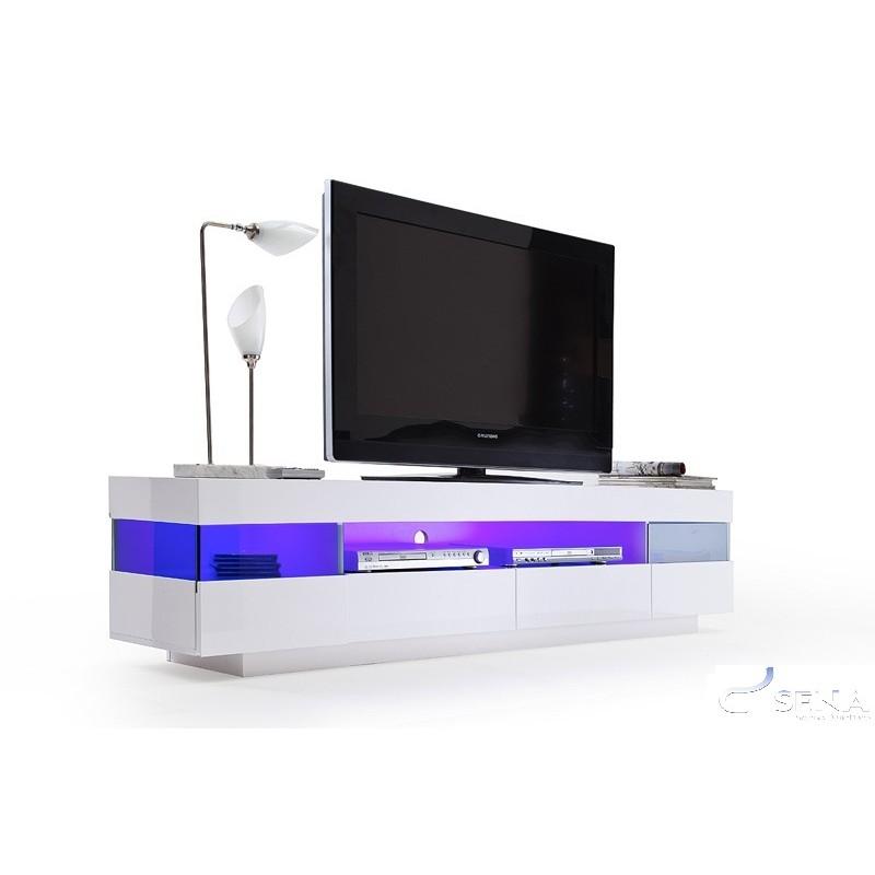 Led Tv Unit : Vento - high gloss TV unit with LED lights - TV stands - Sena Home ...