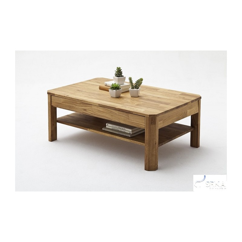 Eve Solid Wood Coffee Table Natural Oiled Oak Coffee Tables Sena Home Furniture
