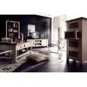 Madie II solid wood sideboard with rattan drawers