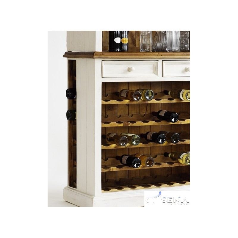 Madie Solid Wood Large Wine Cabinet Modern Wood Collections Sena Home Furniture