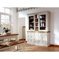 Madie III large solid wood display cabinet