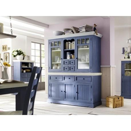 Marin III large solid wood display cabinet