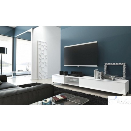 Solo IV lacquered TV unit