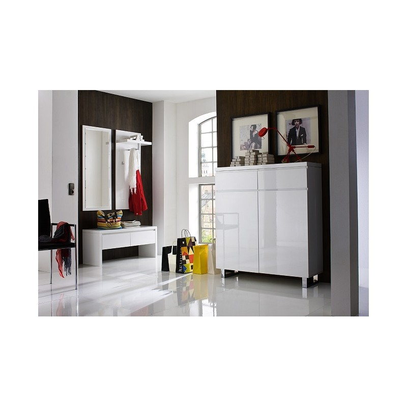 sydney iv high gloss hallway furniture shoe storage. Black Bedroom Furniture Sets. Home Design Ideas