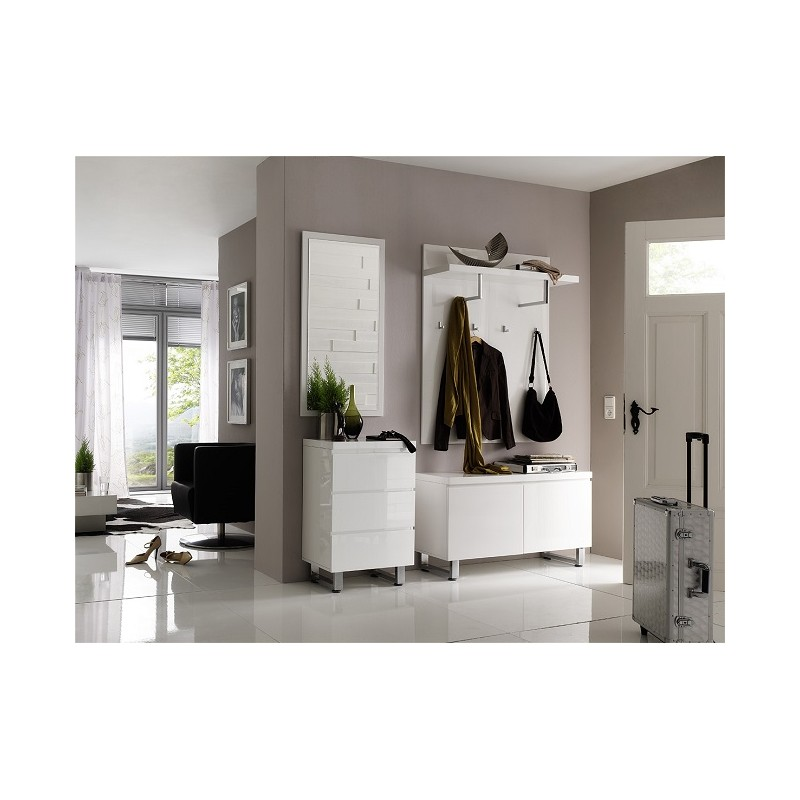 sydney ii high gloss hallway furniture shoe storage. Black Bedroom Furniture Sets. Home Design Ideas