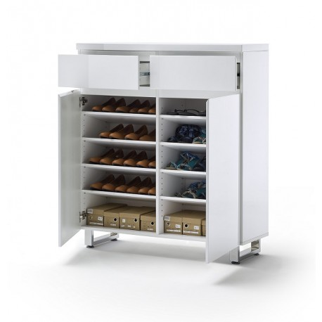 Sydney High Gloss Shoe Cabinet Iii 910 Sena Home Furniture