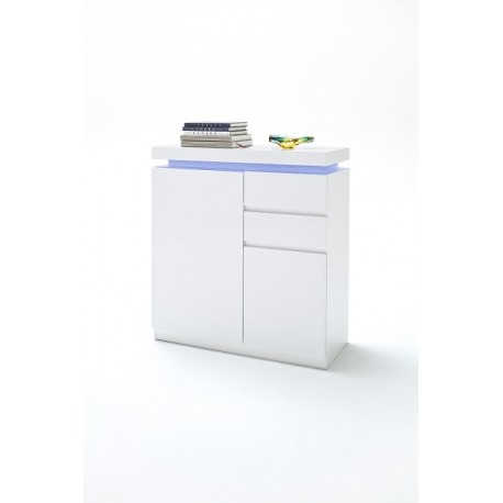 Otis high gloss shoe cabinet with led lights