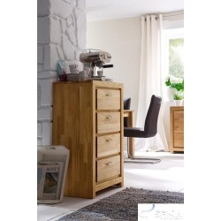 Caspar solid wood chest of drawers
