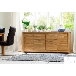 Caspar III solid wood large sideboard