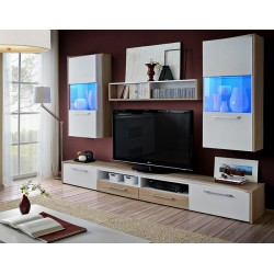 Sven wall set - santana oak & white