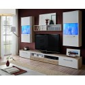 Sven wall set - santana oak & white