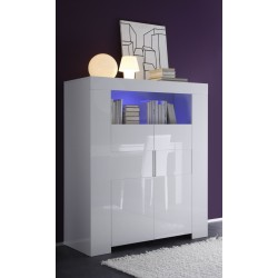 Eos -white  gloss highboard