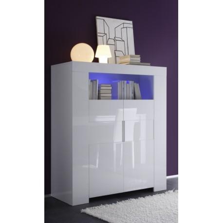 Eos -white gloss highboard