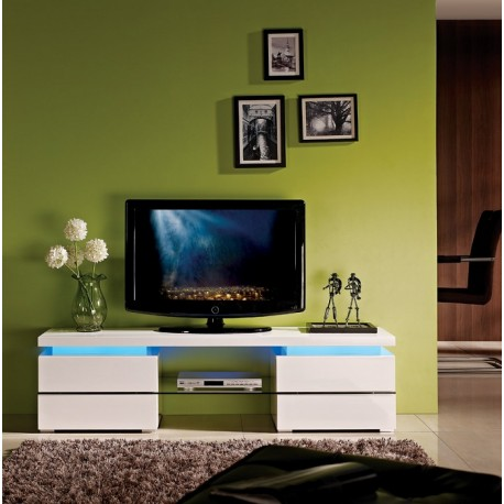Ohio - high gloss TV unit with LED lights