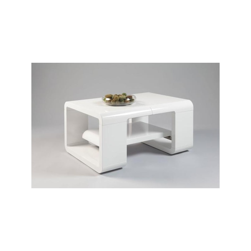 Verona Extendable High Gloss Coffee Table In White: Aldi -extendable Gloss Coffee Table