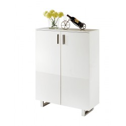 Leeds - white gloss cabinet