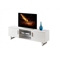 Leeds - white gloss tv stand