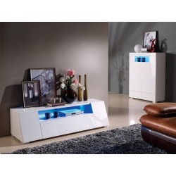 Manchester - gloss tv unit with LED lights