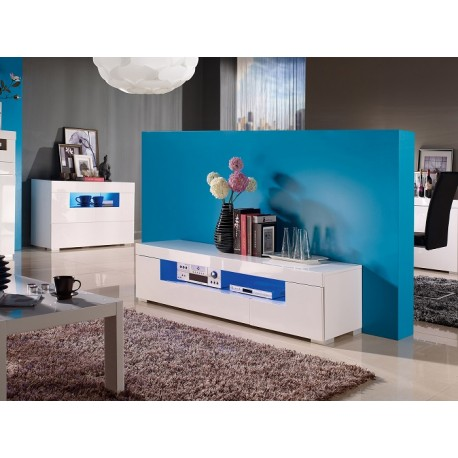 Manchester II - gloss tv unit with LED lights