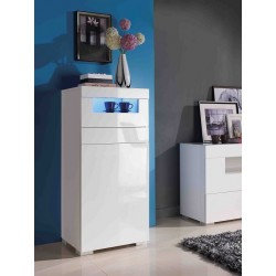 Manchester - gloss tall cabinet with LED lights