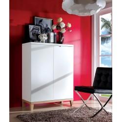 Zurich- white cabinet with oak legs