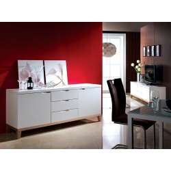 Zurich- white sideboard with oak legs