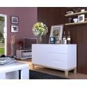Zurich II- white sideboard with oak legs