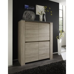 Elba - oak highboard with marmor top