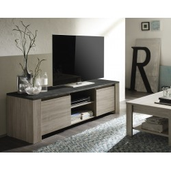 Elba - oak TV Stand with marmor top