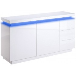 Avanti - white sideboard with LED lights