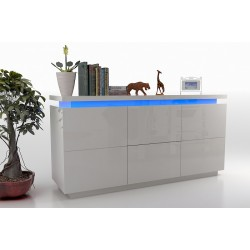 Avanti VI - gloss sideboard with LED lights