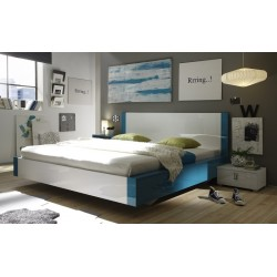 Multi - high gloss lacquered bed