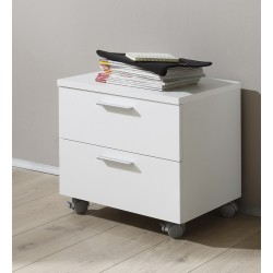 Multi- high gloss bedside cabinet
