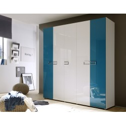 Multi 5 Door lacquered gloss wardrobe