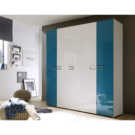 Multi 5 Door lacquered gloss wardrobe