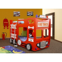 Double Decker Bunk Bed - Fire engine