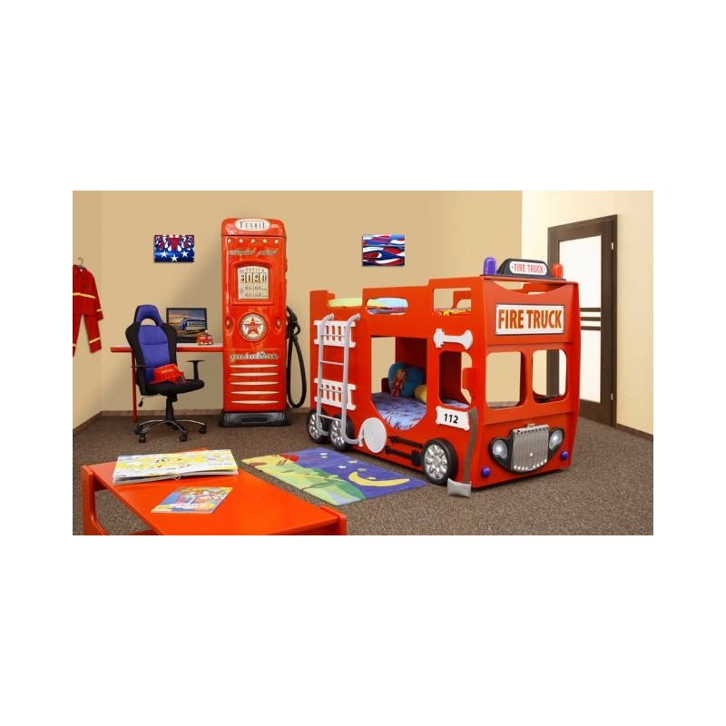 Double Decker Bunk Bed Fire Engine Furniture By Room 1094