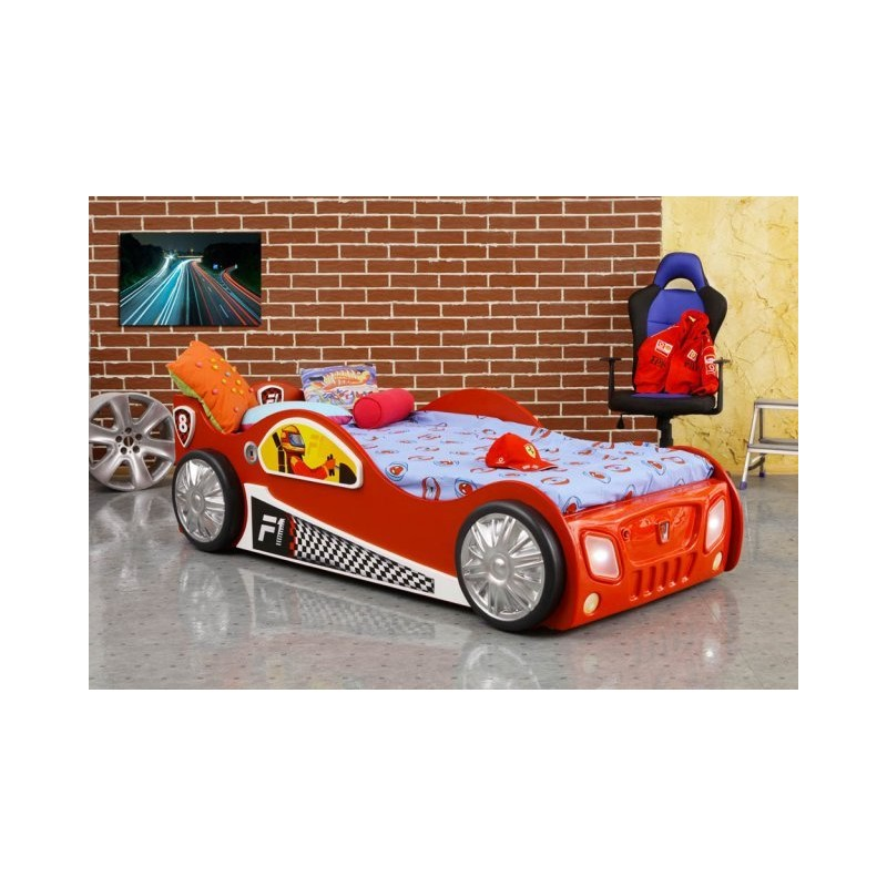 Cars Bett 90x200: Monza Racing Car Bed With LED Lights